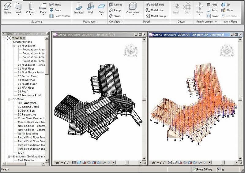 Sơ đồ tính và gán tải trọng trong AutoDesk Revit Structure 2015